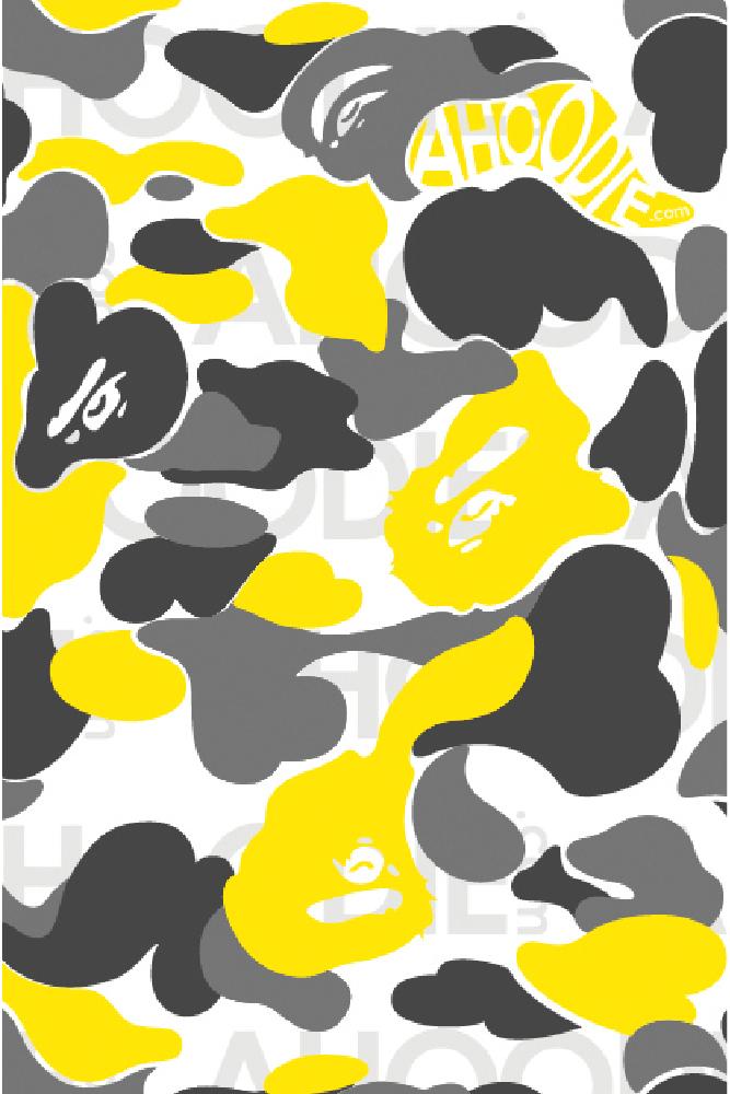 Bape Yellow Camo Wallpaper